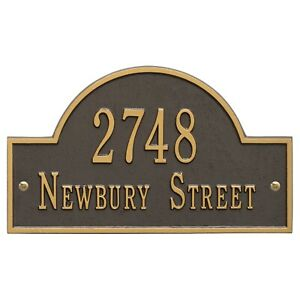 Whitehall Products Arch Marker House Plaque Address Number Standard Size wall