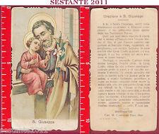 3336 SANTINO HOLY CARD S. SAN GIUSEPPE CANEDI MILANO CAVEZZALI
