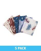 BRAND NEW Harry Potter SPELLS x5 FAT QUARTER Bundle RARE Fabric LOT