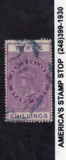 1882 New Zealand SC AR3 Used, Fiscal Revenue, Blue Ink Cancel, Queen Victoria*