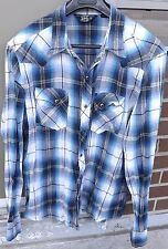 SALT VALLEY Western Mens Plaid Checks Long Sleeve Shirt Pearl Snap Multicolor XL