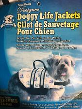Paws Aboard Doggy Life Jacket Life Savior Nautical XX SMALL, XX-Petit ~ NEW