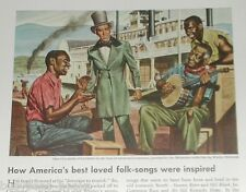 1944 MAGNAVOX advertisement Stephen Foster Black musicians Mississippi steamboat