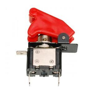 Interrupteur de sécurité Replay 12V 20A type aviateur avec diode rouge pour