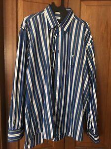 Designer Mens Long Sleeve Collared Shirt