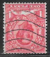 GB Stamp KGV 1912 1d Scarlet Sg 336wi Wmk Royal Cypher Used Inverted Watermark