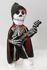 Skelett Figur Rocker, animiert Gitarre u Sound, leuchtende Augen Halloween