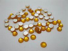 2000 Golden Flat Back Diamonds Rhinestones 3mm