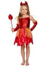 Spooky Girls Devil outfit Fancy Dress Costume Halloween & accessories free ukp&p