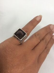 Beautiful Silpada sterling Silver 925 Smoky Quartz ring size 6