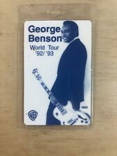George Benson 1992-93 Laminated Backstage Pass All Access Warner Brothers