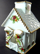 VINTAGE ROYAL ALBERT LTD.C OLD COUNTRY ROSES FIGUTAL HOUSE VOTIVE (C4)