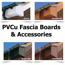 PVC Fascia Board Capping 125mm to 300mm wide - 10mm thick - 4 Colours available