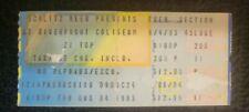 Zz Top 1983 Concert Ticket Stub - Riverfront Coliseum - Cincinnati Oh