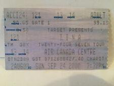 Tina Turner Concert Ticket Stub 9-24-2000 Toronto