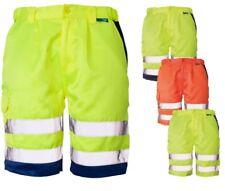 Mens Hi Vis Work Shorts High Viz Work Wear Cargo Pants EN471 Poly Cotton S-4XL
