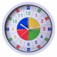 Silent Wall Clock For Home Decor Kids Quartz Modern Design Glass Plastic Watches