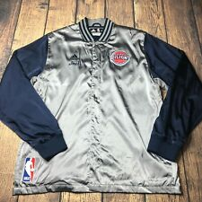Adidas NBA Detroit Pistons Joel Anthony Game Worn Jacket 3XL +2 Satin Silver