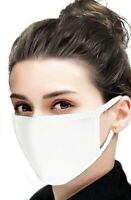 6-Pack Soft Cotton Cool Washable Reusable Face Mask Facemask White Made In USA