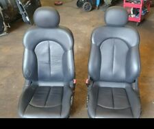 MERCEDES CLK 3.0 W209 320 CDI CABRIOLET COUPE FRONT LEATHER SEATS PAIR BLACK