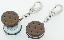 Biscuit Novelty Miniature Clock Keyring