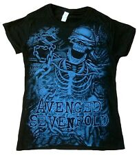 BRAVADO OFFICIAL Avenged Sevenfold Skull Chained Skeleton Lady T-Shirt S 36/38
