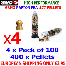 GAMO RAPTOR PBA .177 Airgun Pellets 4(packs)x100pcs