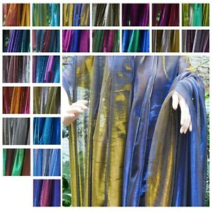 Wholesale* Mxx Metallic Iridescent 2 Tones Way Stretch Mesh Net Fabric Material