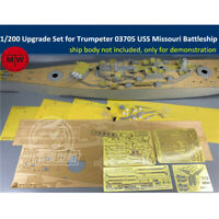1/200 Upgrade Set for USS Missouri Battleship Trumpeter 03705 Wooden Deck Barrel