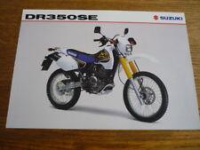 SUZUKI DR 350 SE MOTORBIKE BROCHURE 1998/99 - POST FREE (UK)