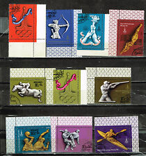 Russia Sport Moscow Olympics 10 stamps set 1980