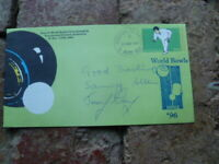 JEREMY HENRY & SAMMY ALLEN SIGNED WORD CHAMPS CACHET LAWN BOWLS COVER