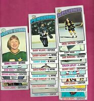 1976-77 TOPPS NHL PLAYERS  CARD LOT  (INV# C6782)