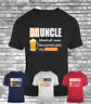 New DRUNCLE uncle funny t-shirt funcle beer drunker like normal men's tee gift