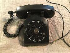 1950 WESTERN ELECTRIC TELEPHONE ROTARY DIAL IN BLACK PHONE MODEL 500 VINTAGE