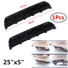 "25""x5""Matte Black ABS Universal Rear Shark Curved Add on Bumper Lip Diffuser Kit"