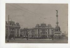 Lima Peru La Plaza y el Monumento del Dos de Mayo Vintage RPPC Postcard US020