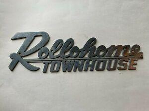 Vintage Rollohome Townhouse Emblem Mobile Home Trailer