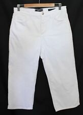 NOT YOUR DAUGHTERS JEANS NYDJ ~ White Stretch Cropped Jeans US 8 Aus 10 UK 12