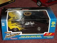 TOOTSIE TOY 1970 BOSS 302 FORD MUSTANG STREET MACHINE BLACK w DISPLAY CASE 1/32