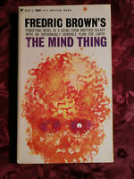 RARE The Mind Thing by FREDRIC BROWN 1961 1st EDITION paperback!