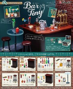 NEW Re-ment Bar Tiny Miniature Bar Counter and Drinks rement Full set of 8