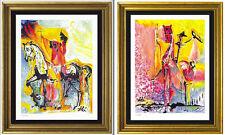 """2 Dali Prints Signed/Hand-Number Ltd Ed: """"Christian & Middle Ages"""" (unframed)"""