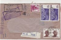 India 1980 United Commercial Bank Bangalore Regd Airmail Stamp Cover Ref 29740