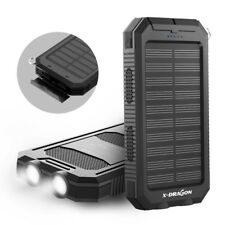 300000mAh Dual USB External Solar Power Bank LED Battery Charger for Cell Phone