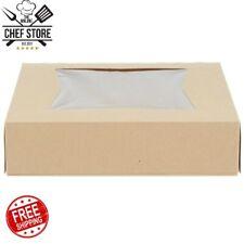"10"" x 10"" x 2 1/2"" Kraft Auto Popup Window Pie Bakery Box 200 Bundle Paperboard"