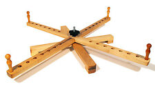 """Yarn Swift Tabletop Windmill or Amish Style Handcrafted Portable Maple Swift 30"""""""