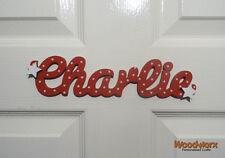 Personalised Names Wooden Name Plaque / Door Sign / Bedroom Door Letters Star#21