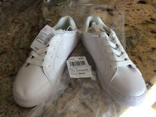 New listing New Childrens Place youth Boys White Uniform Low Top Sneakers Size 6 New W Tags