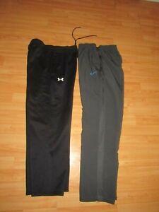 NIKE UNDER ARMOUR Mens Sz Medium Athletic Sweat Pants Lot Black Gray Excellent